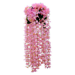 1pc Wall Mounted Hanging Decorative Silk Durable Flower Decor C $14.57