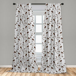 Birds Microfiber Curtains 2 Panel Set for Living Room Bedroom in 3 Sizes $23.99