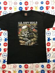 vintage 3d emblem t shirt large 1992 navy seals made in usa single stitch EUC $65.00