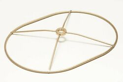 Lamp Shade Making Thick Wire Brass Oval Racetrack Ring 9.5 inch x 7 inch 1quot; Drop $15.00