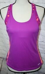 Champion C9 Women#x27;s 2 In 1 Sports Bra With Tank Top Attached Purple Pink Size XS $7.00