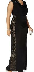 Women's Formal Dresses Size 12 CONNECTED Black Sequined Embellished Gown #B16 $99.99
