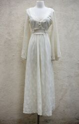 vintage 1970s Gunne sax style angel sleeve maxi boho dress m $25.00