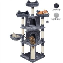 68.5in Multi Level Cat Tree Large Cat Condo with Sisal Covered Scratching Board $98.99