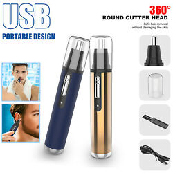 Electric Ear Nose Hair Clippers Trimmer Beard Razor Electric Shaver Cordless Set $6.99