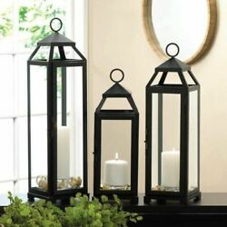 Sleek and Lean Candle Lantern inches Candle Holder Accessory $37.00
