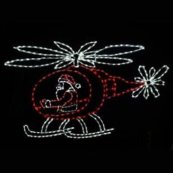 Animated Christmas Santa Claus in Helicopter Outdoor LED Lighted Yard Display $999.00