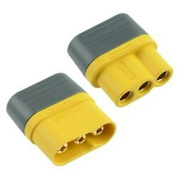 AMASS MR60 Male Female 3 Pin Gold Plated RC Connector with Cap 30A $8.77
