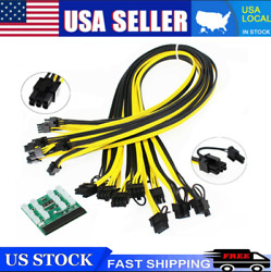 Breakout Board Server Adapter PSU Power Supply HP 1200W GPU Mining WITH CABLES $26.59