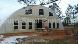 DuroSPAN Steel 40x32x20 Metal Arch Shed DIY Home Building Kits Open Ends DiRECT $8989.00