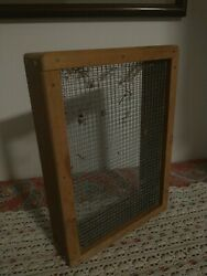 Vintage Primitive Rustic Country Wood amp; Screen Grain Seed Sifter Sieve Home Made $25.99