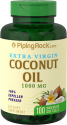 Piping Rock Organic Extra Virgin Coconut Oil 100 Softgels free shipping $8.68