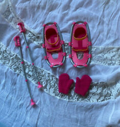 American Girl Doll Snowshoe Set Snowshoes Poles and Mittens  $8.00