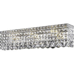 ASFOUR CRYSTAL BATHROOM VANITY BEDROOM DINING ROOM FOYER WALL SCONCE 6 LIGHT 26quot; $626.40