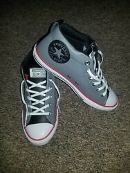 NWOT Converse All Star Boys Juniors Size 5 Gray Sneakers Shoes 661888C $28.95