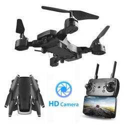 WiFi FPV Drone HD Camera Aircraft Foldable Quadcopter Selfie Toys w Remote $34.99