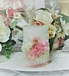 Shabby Chic Vintage Wax Candle Wedding Baby Shower Birthday Gift Table Decor. $29.89