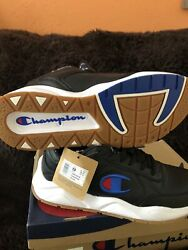 Champion Size 10 M 93 EIGHTEEN Black Leather Sneakers New Men#x27;s Shoes $50.00