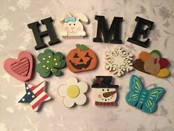 Wooden Decorative Home Signs with Letters and Icons 13 Pc. $7.95