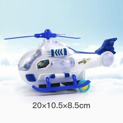 Electric Universal Music Helicopter Toys Flashing Wing Rotation Airplanes Model $26.99