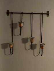 Bronze Wall Hanging Candle $26.00