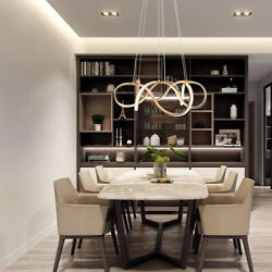 Contemporary Pendant Light LED Lamp Chandelier Dining Room Gold Ceiling Fixture $183.99