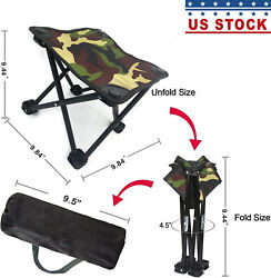 Camping Stool Portable Folding Stool Portable Chair Mini Foldable Camouflage $18.87