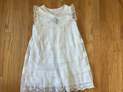 Teen Kids Dress Summer Girl White Lace Size 7 8 Years Old $6.99