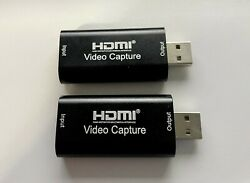 2HDMI to USB 2.0 Audio Video Capture Cards $24.99