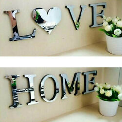 Mirror Wall Sticker Love Home Letters DIY Room Art Decor Acrylic Adhesive Decal $10.44