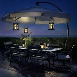GIGALUMI 8 Pack Solar Hanging Lantern Outdoor Candle Effect Light with Stake fo $74.60