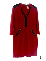 Cache Dress size 10. Red . Cocktail Office. $25.00