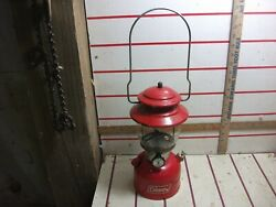 Coleman 1978 Lantern Red 200A with red Globe Camping Dated 6 78 Tested Works $175.00