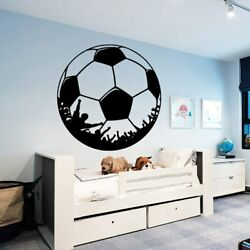 Custom Soccer Wall Stickers Personalized Creative For Kids Rooms Football Home $7.46