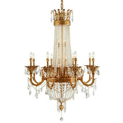 FRENCH EMPIRE ASFOUR CRYSTAL FOYER DINING ROOM KITCHEN CHANDELIER 16 LIGHT 48quot; $4517.88