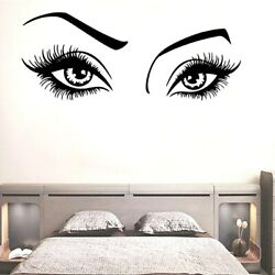 Beauty Eyes Wall Decals Mural Art Bedroom Decor Living Removable Wall Stickers $7.29