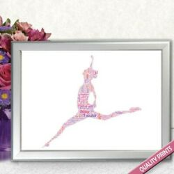 PERSONALISED DANCE TEACHER WORD ART END OF YEAR THANK YOU PRINT GIFT PRESENT $8.73