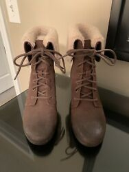 Ugg Lace up Suede Booties Size 7 $37.00