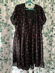 Torrid Black Dress with Foxes Size 26 $17.90