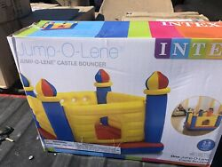 Intex Inflatable Colorful Jump O Lene Kids Ball Pit Castle Bouncer for Ages 3 6 $25.00