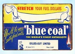blue coal metal tin sign wall designs for living room $16.99