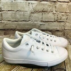 Converse All Star Kids White Short Lace Low Sneakers Size 5.5 Y Womens 7.5 8 $38.47