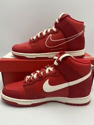 Nike Dunk High First Use University Red Sail DH0960 600 Mens Sizes 8 13 $169.95