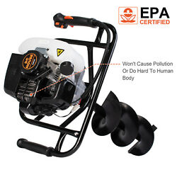 52CC 2.5HP Gas Powered Post Hole Digger With 6quot; amp; 10quot; Earth Auger Digging Engine $180.60
