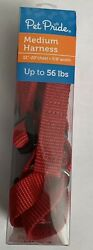 PET PRIDE DOG MEDIUM RED HARNESS ADJUSTABLE UP TO 56 LBS NEW $7.00