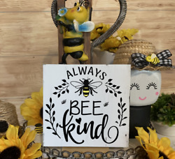 ALWAYS BEE KIND MINI SIGN TIERED TRAY FARMHOUSE RUSTIC DECOR HOME FAMILY LOVE $8.75