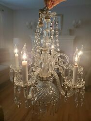 1920#x27;s Antique Glass Chandelier with Pair of Matching Sconces $725.00