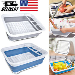 14quot; Collapsible Dish Rack Foldable Kitchen Holder Drainer Portable Drying Rack $15.66
