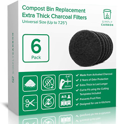 2 Years Supply Extra Thick Filters for Kitchen Compost Bins Longer Lasting $27.99