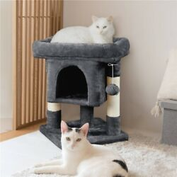 Cat Tree Tower w Cozy Plush Condo amp; Sisal Covered Scratching Posts for Kitten $34.99